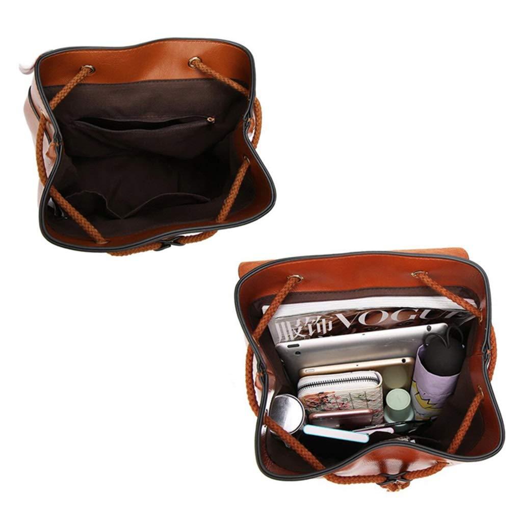 WLWL Mode ryggsäck väska Europa och Amerika pu ryggsäck enkel resväska (färg: Blå) Brun