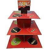 Ninja Master Cupcake Stand & Pick Kit, Ninja Master Party Supplies, Ninja Master Decorations, Birthdays, Cake Decorations, Kids Birthdays, 3 Tier Cardboard
