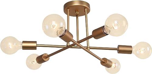 Chandelier Lights Semi Flush Mount Ceiling Modern Sputnik Lighting Farmhouse Kitchen Fixture