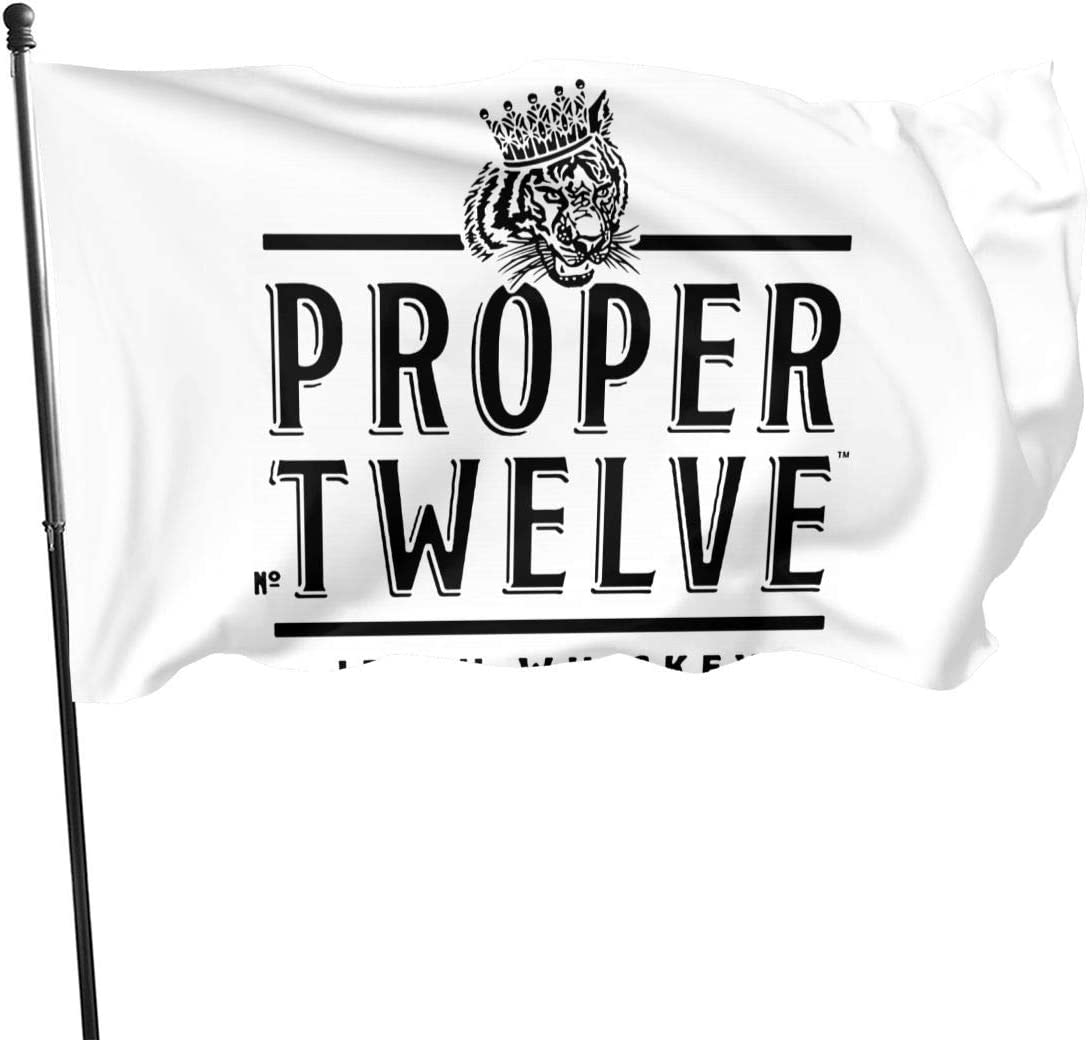 1836 Proper 12 Irish Whiskey Polyester Lightweight Flag 3x5 Ft, Single-Sided Garden Flags for Inside Outside Use Uv Protected