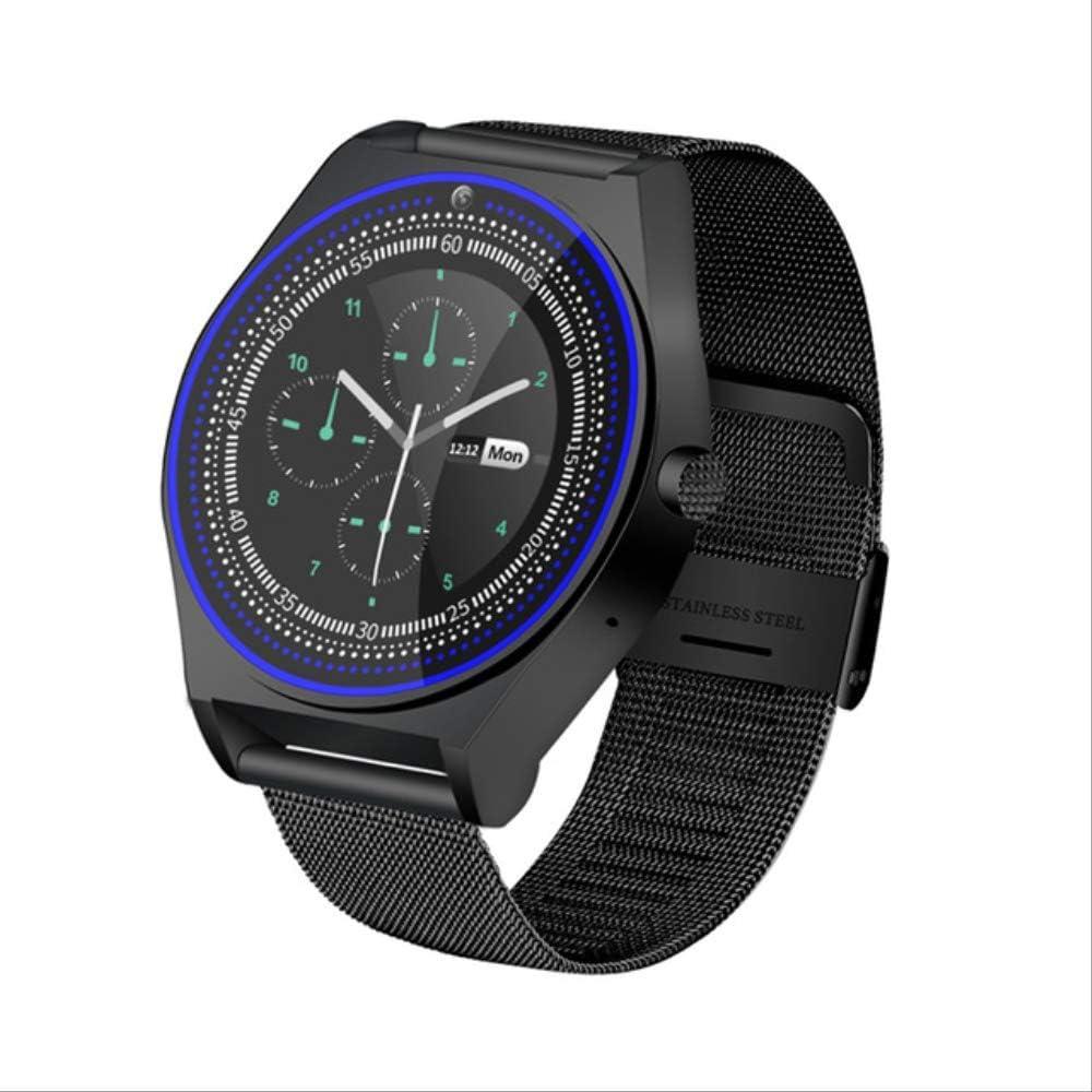 DAJUZI Reloj Inteligente de Moda Hombres Mujeres Correa de Metal Tarjeta SIM Impermeable con cámara Podómetro Bluetooth Sleep Track Smartwatch Android iOS