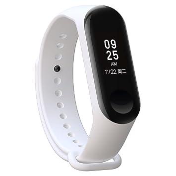 XIHAMA Correa de Silicona Suave de Repuesto para Reloj Deportivo Inteligente Xiaomi Mi Band 3 (Blanco): Amazon.es: Electrónica