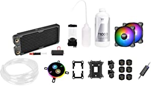 Thermaltake Pacific C240 Ddc Res/Pump 5V Motherboard Sync Copper Radiator Soft Tube Water Cooling Kit CL-W249-CU12SW-A