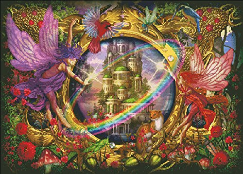 Faerie Glass 1000 pc Holographic Puzzle by Artist Ciro Marchetti