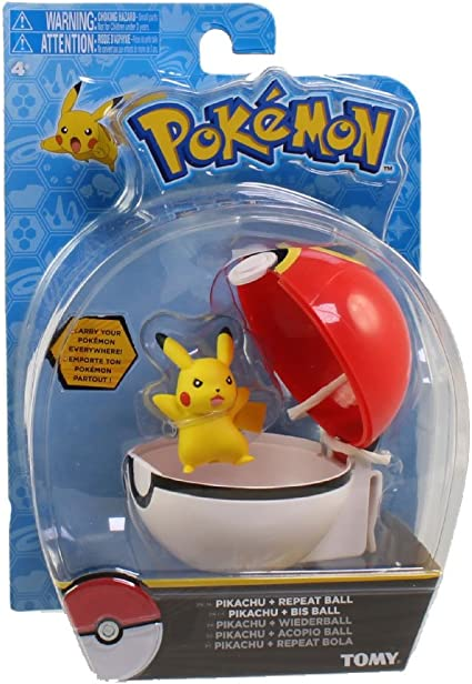 Original Repeat Ball TOMY Pokemon Clip and Carry Pikachu