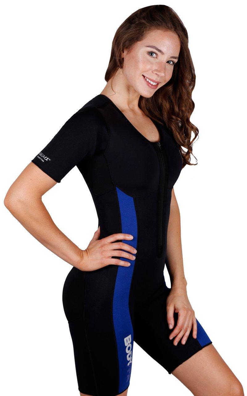Sauna Suit Neoprene Weight Loss Gym Sport Aerobic Boxing MMA 13930 (Small, Dark Blue)