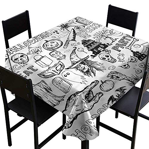 home1love Vintage Halloween Stain Resistant Square Tablecloth Treat Party for Events Party Restaurant Dining Table Cover 50 x 50 -