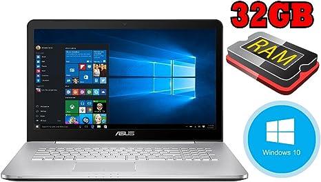 Asus n752 – 128 GB SSD + 1000 GB – 32 GB RAM – Windows 10 64bit ...