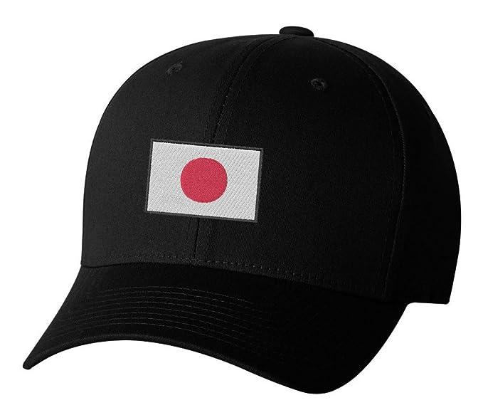 16f60346686 Japanese National Flag Japan Hinomaru Embroidered Hat 4 Colors - Black -  OSFA Adjustable