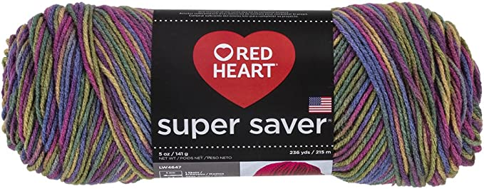 Multicolore Autres Coats Red Heart Super Saver Fil Vert Printemps