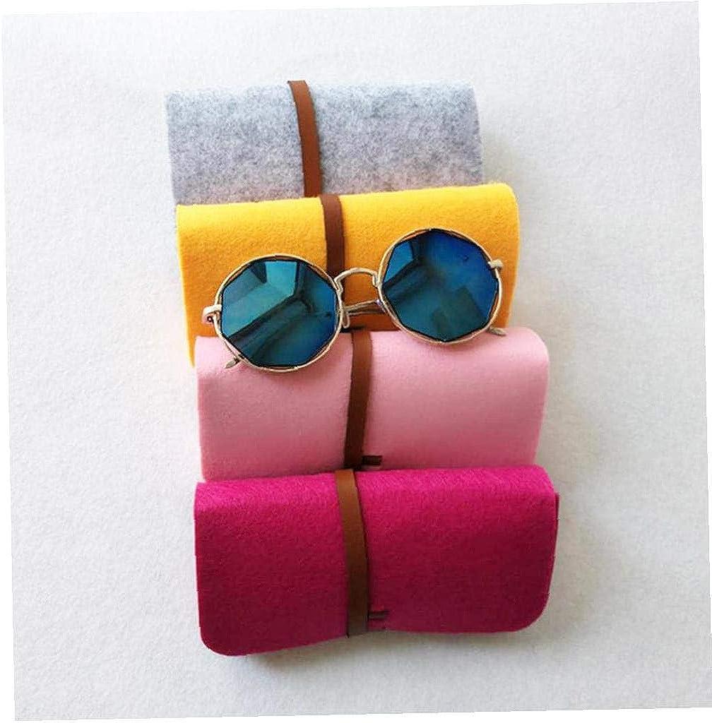 Aisoway Tragbare Filz Brillenetui Sonnenbrille Aufbewahrungstasche Wolle-bleistift-feder-kasten-verfassungs-kosmetischer Beutel Weibliche M/änner Gl/äser Box Black