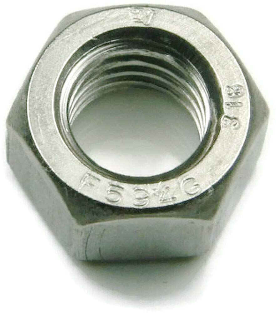 Stainless Steel Finished Hex Nut 1//4-20 100 each