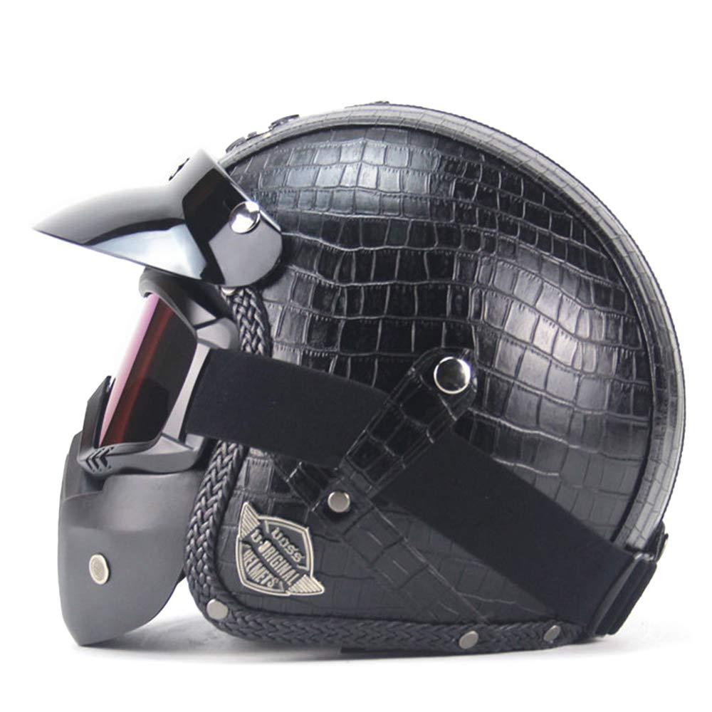 G-AVERIL Casco de moto 3//4 con hebilla microm/étrica certificada por DOT