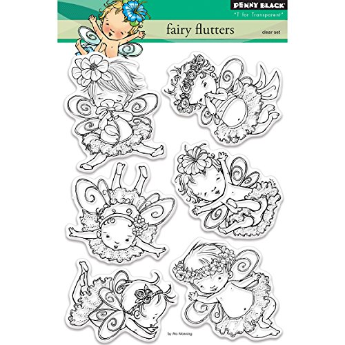Penny Black Fairy Flutters Clear Unmounted Rubber Stamp S...
