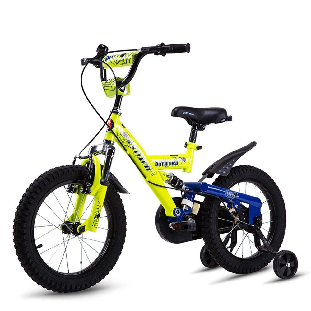 HAIZHEN マウンテンバイク 自転車16インチ3-4-5-6-7-8歳のベビーカーバイクボーイマウンテンバイク 新生児 B07C6V9KGH イエロー いえろ゜ イエロー いえろ゜