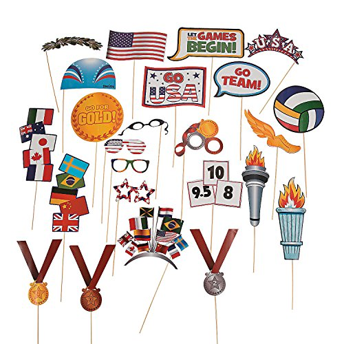 Fun Express - Award Photo Stick Props - Apparel Accessories - Costume Accessories - Costume Props - 24 Pieces