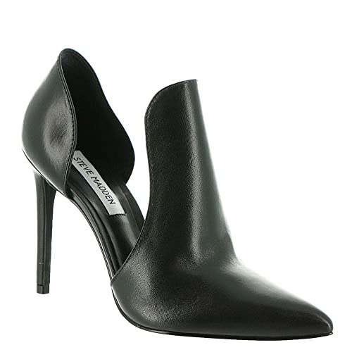 727f80985bf Steve Madden Women's Dolly Black Leather Dress Closed 6.5 US: Amazon ...
