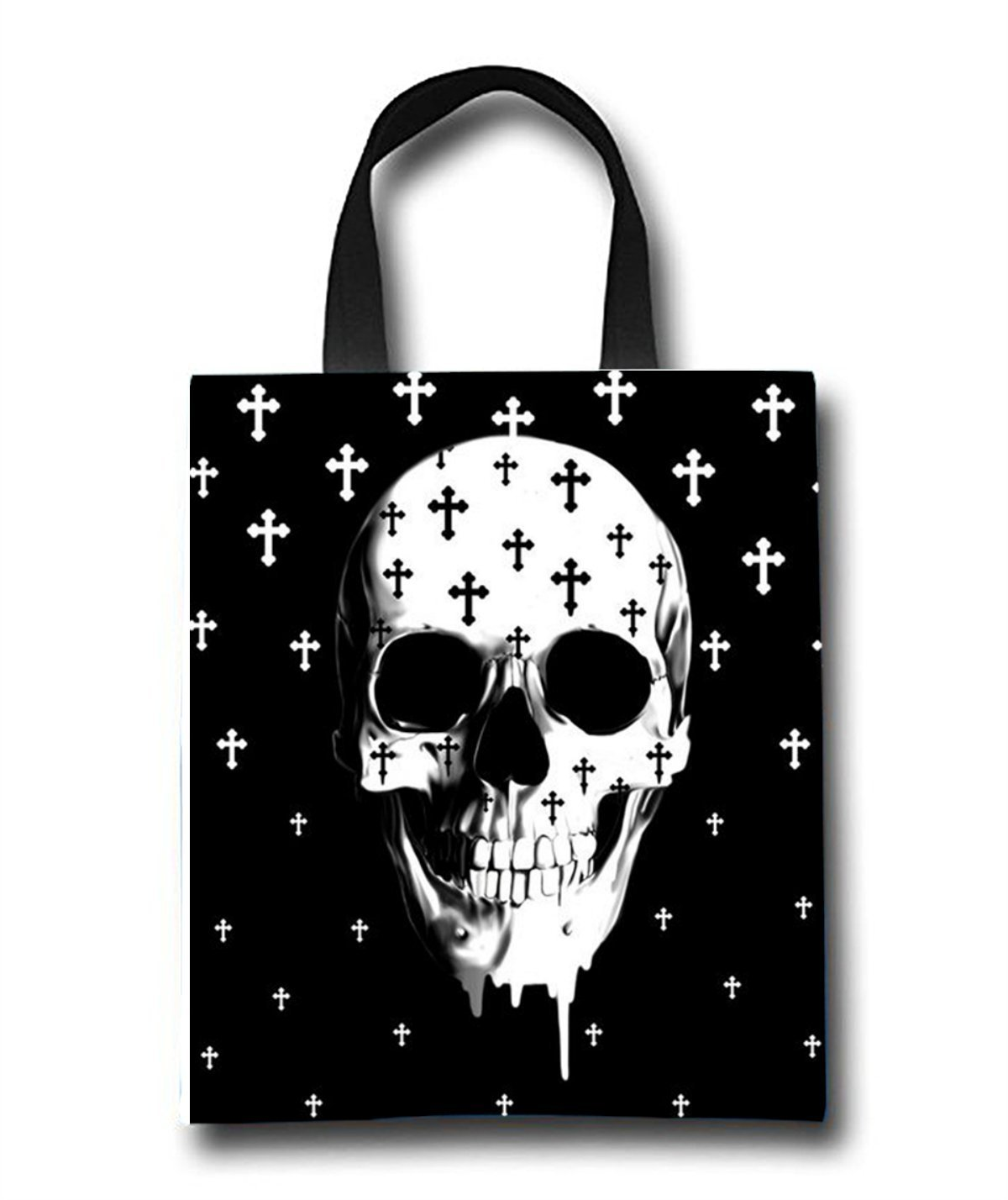 Gothic Skull Beach Tote Bag - Toy Tote Bag - Large Lightweight Market, Grocery & Picnic