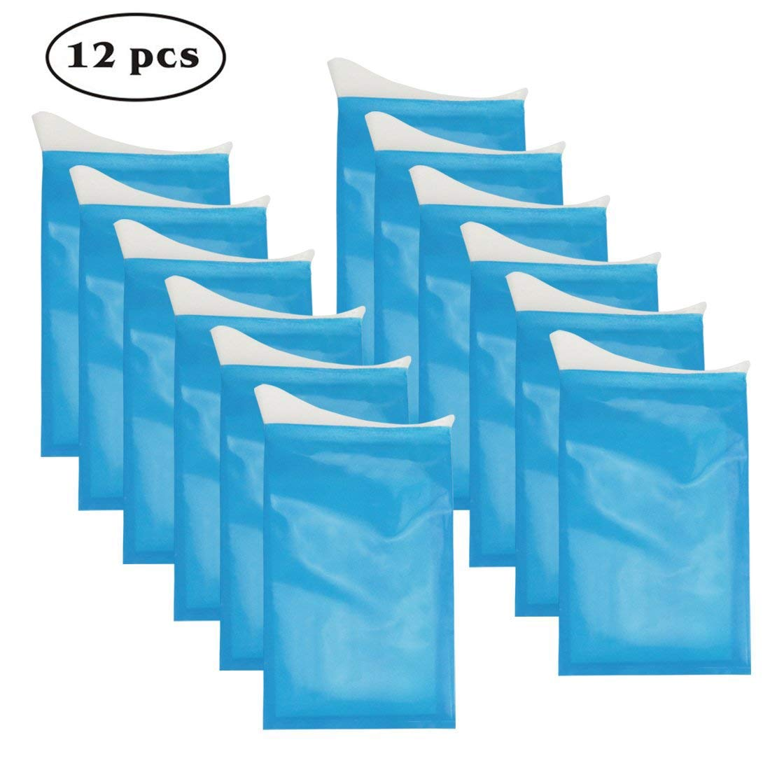 Idefair Disposable Urine Bags, 12 PCS Camping Pee Bags Portable Men Women Emergency Car Toilet Pouch for Traffic Jam Travel Inpatients Children Brief Relief Sickness Vomit by Idefair (Image #1)