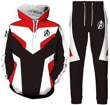 Pandolah 3D Avengers Endgame Sports Pants Suit Quantum Realm