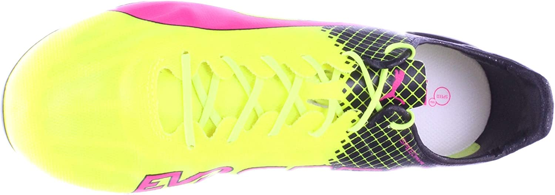 PUMA Mens Evospeed SL II Tricks FG Soccer Shoe-Pink GLO-Safety Yellow-Black (11)