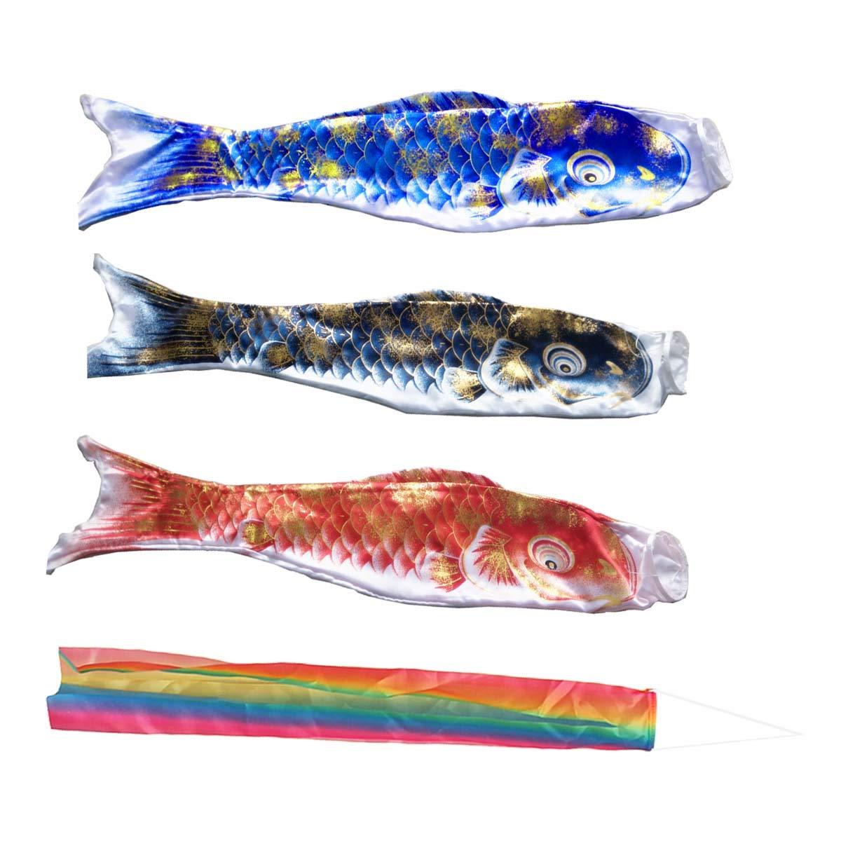 Japanese Koinobori Carp Windsocks Streamers Colorful Tassels Flag Decoration