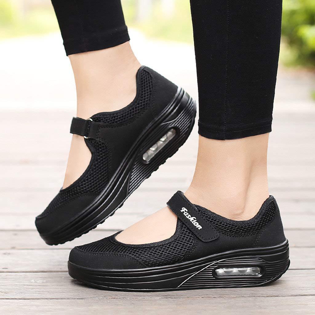 Zapatos Mujer Zapatillas Respirable Mocasines Deportes Casual Sandalias Antideslizantes Fitness Correr Calzado Deportivo Zapatilla Malla Plataforma Sneaker Sandalias Casual Verano