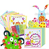 Here Fashion DIY Button Crafts Kit Creativity Button Greeting Cards for Kids Girls Boys Kids Gift Card