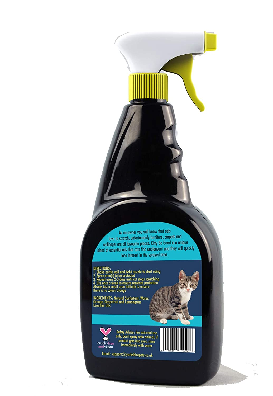 Kitty Be Good Stop Cat Scratching Spray Protect Furniture And Wallpaper  500ml