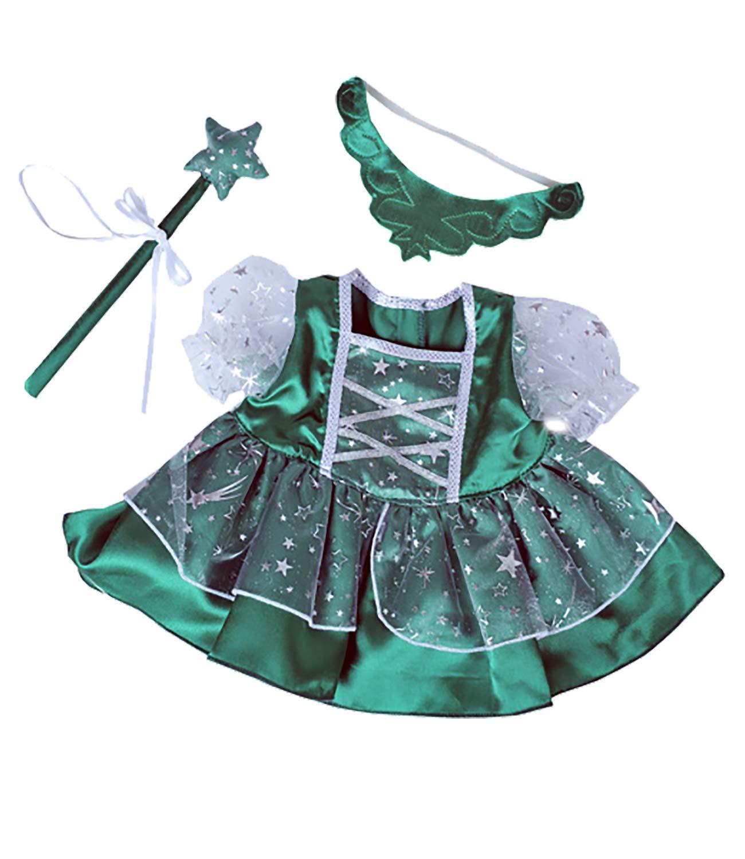 Shining Star et 20,3cm 10cm pour faire vos propres Animaux en peluche et build-a-bear 10Webkinz Fairy Vert «Princesse W/robe Baguette et diadème compatible avec la plupart des 20,3cm