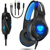 Gaming Headset, Gaming Headphones with mic for PS4, Xbox One, PC (Blue)