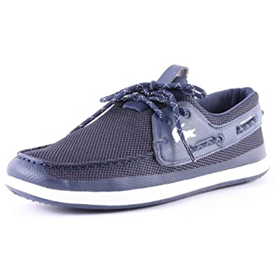 71183512bb0788 Lacoste L.andsailing Trf Mens Mesh Boat Shoes Dark Blue - 7 UK   Amazon.co.uk  Shoes   Bags