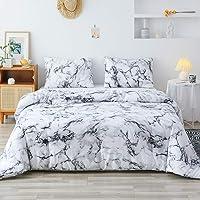 Smoofy 3pcs Soft Brushed Microfiber Comforter Set, Modern Pattern Printed Inner Fill Bedding with 2 Pillow Shams
