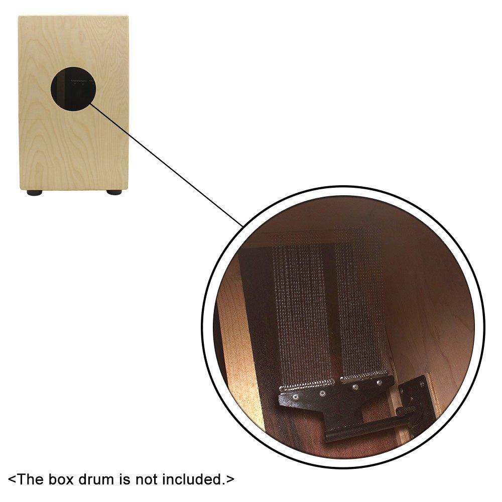 ammoon Half Design Steel Snare Wire 20 Strand Drum Spring for Children Snare Cajon Box Drums