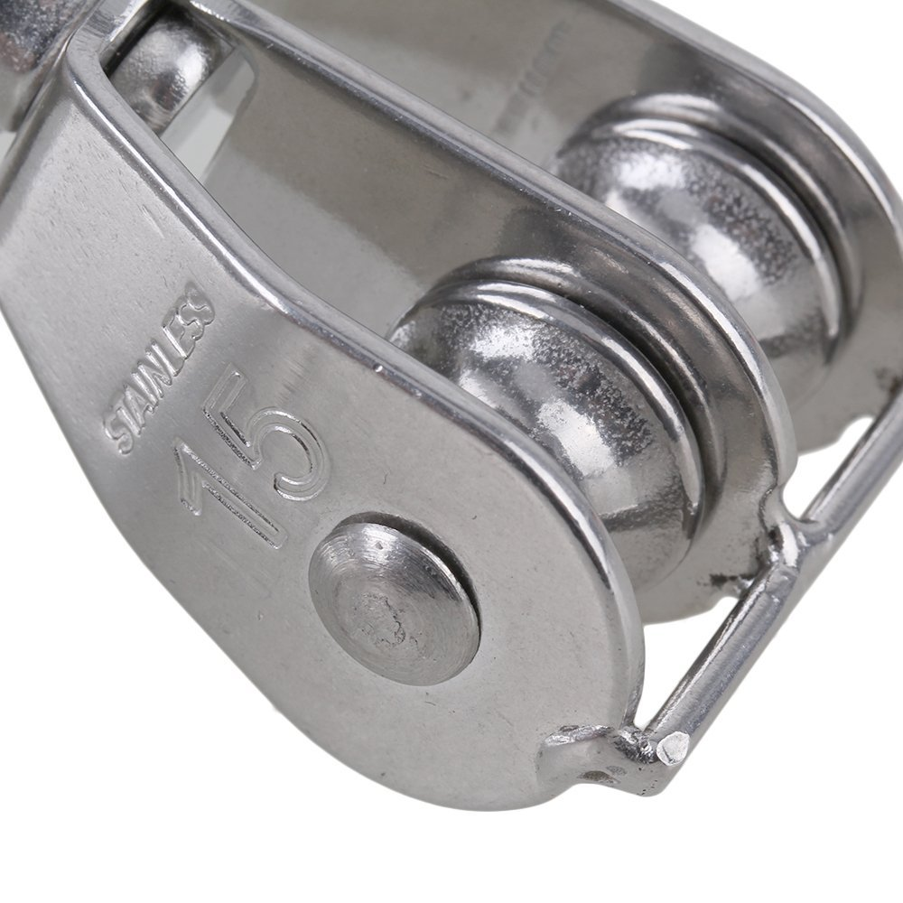 CNBTR M15 304 Stainless Steel Double Pulley Block for Wire Rope ...