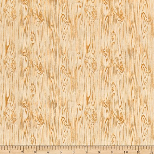 Fabri-Quilt Building 101 Wood Texture Fabric by The Yard, Pine