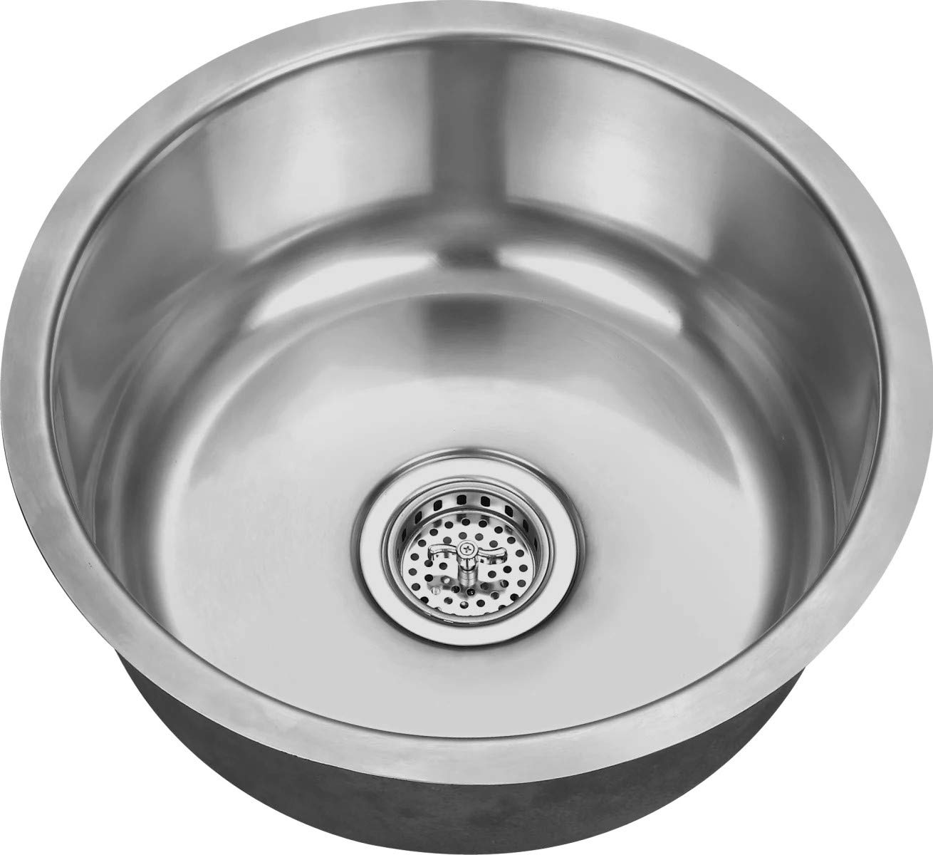 Miseno MSS17C 17-1/8'' Circular Undermount Stainless Steel Bar/Prep Sink - Drain Assembly Included
