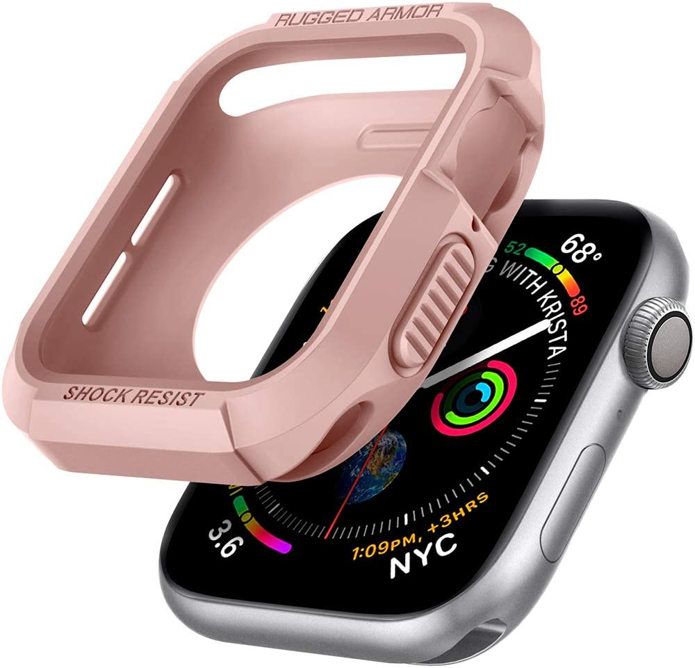 Spigen Rugged Armor Designed for Apple Watch Case for 40mm Series 6/SE/5/4 - Rose Gold