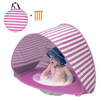 Lixada Pop Up Beb/é Playa Tienda Impermeable Anti-UV Sol Refugio con Piscina Ni/ños Al Aire Libre Sombrilla Toldo Tienda