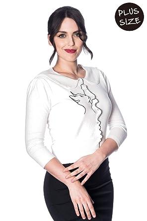 d963b986c70 Banned Plus Size Cat Scallop Collar Cardigan: Amazon.co.uk: Clothing