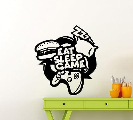 Eat Sleep Game Gamer Gaming Room Print Gift Inspiration Office Setup Decoration