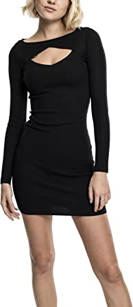 TALLA XS. Urban Classics Ladies Cut out Dress Vestido para Mujer