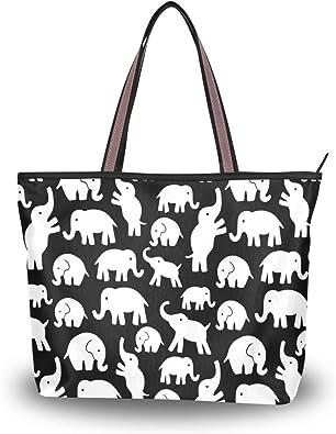 Womens Canvas Large Tote Shoulder Handbag Rhinoceros Messenger Perfect Bag Tote