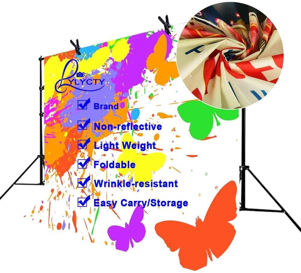 CdHBH 7x5ft Abstract Art Backdrop Butterfly Paint Abstract Art Photography Backdrop Photo Studio Background Props LYNAN410