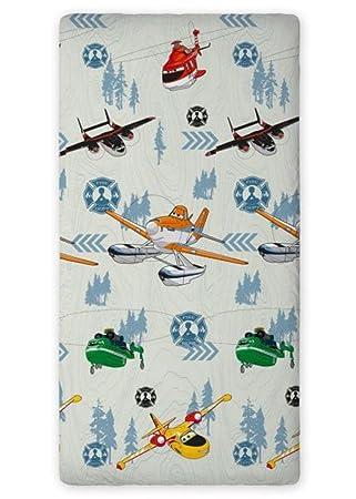 Drap housse Planes Disney coton lit 1 personne 90 x 200 cm: Amazon
