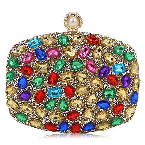 B De Coloré En Des Tutu Acrylique Femmes La Luxe À Soirée Les Mariage Mode Main Sacs Embrayages Cristal wFnqTF80