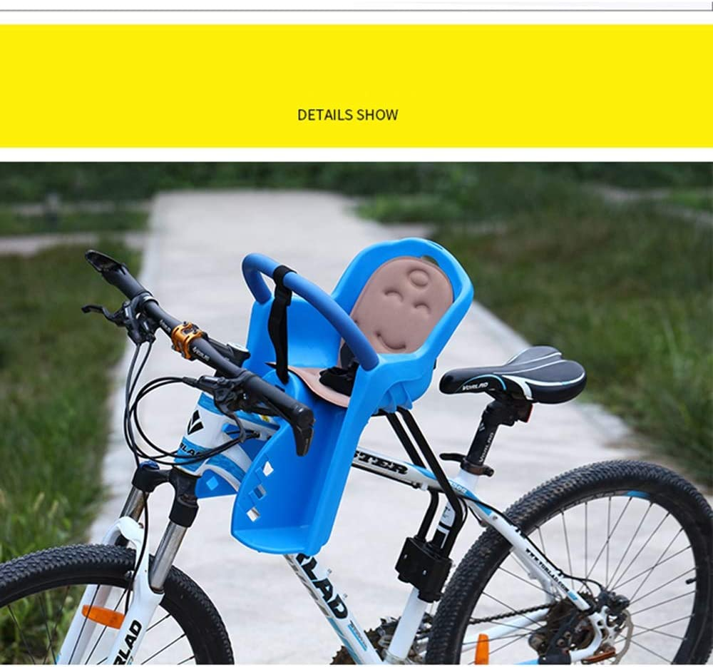 Front Quick Release Bicycle Baby Front Seat SAIDISH Mountain Bike Child Seat Child Seat Safe and Convenient Color : Blue