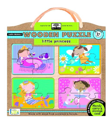 Green Start Wooden Puzzles: Little Princess - Earth Friendly Puzzles with Handy Carry & Storage Case