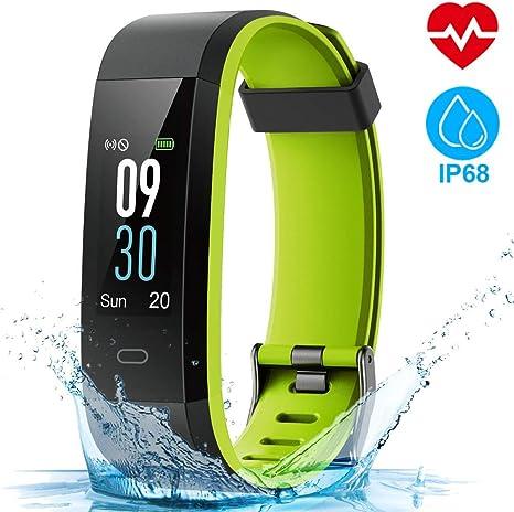 HOMSCAM Fitness Tracker Orologio Fitness Donna Uomo Smartwatch Cardiofrequenzimetro da Polso Schermo a Colori Impermeabile IP68 Braccialetto Fitness