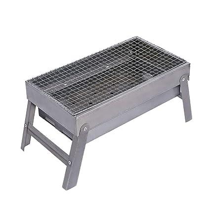 Parrilla para Barbacoa al Aire Libre Parrilla Plegable de carbón portátil Acero Inoxidable para Acampar Parrilla